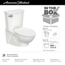 American Standard Glenwall VorMax Elongated Toilet with Right Hand Trip Lever