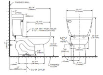 American Standard Cadet 1.1 gpf FloWise Right Height Pressure Assisted Elongated Toilet