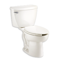American Standard Cadet 1.1 gpf FloWise Right Height Pressure Assisted Elongated Toilet with Slotted Rim for Bedpan Holding