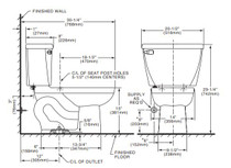American Standard Cadet 1.1 gpf FloWise Elongated Pressure Assisted Toilet