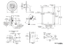American Standard Commercial Shower System Kit for Flash Rough Valve - 1.5 GPM with Hand Shower and Fixed Showerhead