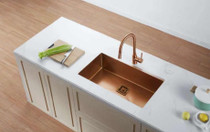 """Castle Bay Hummingbird Max Copper (30"""" x 18"""" x 9"""") Stainless Steel Sink"""