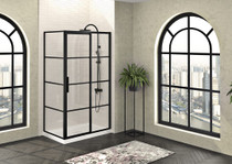 Zitta Mecanex Sliding Shower Door, Corner Closing on Return Panel