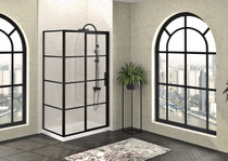 Zitta Mecanex Sliding Shower Door, Corner Closing on Wall