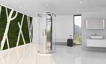 Zitta Bellini Freestanding Round Rolling Shower Door