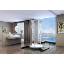 Zitta Piazza Freestanding Round Rolling Shower Door