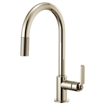Brizo Litze Pull-Down Faucet with Arc Spout and Industrial Handle