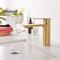 Royal Timelyss Single Hole Bathroom Faucet Brushed Gold