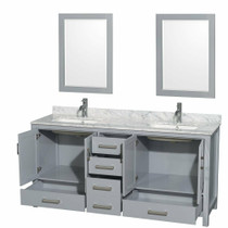 "Armada 65"" Bathroom Vanity Double Sink Grey"