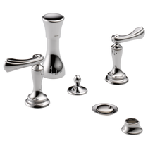 Brizo Charlotte 4-Hole Mount Bidet Faucet with Vacuum Breaker