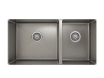ProChef ProInox H75 60/40 Double Bowl Undermount Kitchen Sink 30'' X 16''
