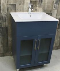 """Jane 24"""" Bathroom Vanity in Blue"""