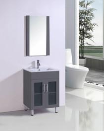 """Jane 24"""" Bathroom Vanity in Grey"""