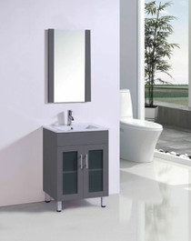 """Jane 30"""" Bathroom Vanity in Grey"""