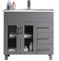 """Jane 36"""" Bathroom Vanity in Grey"""