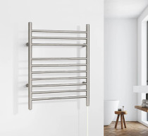 WarmlyYours the Infinity Towel Warmer Brushed Stainless Steel
