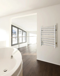 WarmlyYours the Sierra Towel Warmer Polished Stainless Steel