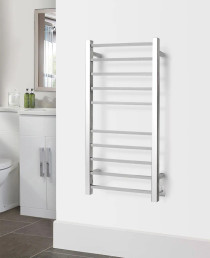 WarmlyYours the Metropolitan Towel Warmer Hardwired Polished Stainless Steel