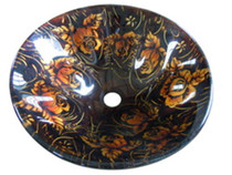 Fire FlowerOver Mount Bathroom Sink