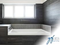 "Mirolin Aura Soaker 60"" Tub Left Hand"