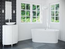 "Mirolin Ashford Freestanding Bath Tub  66 1/4"" x 31 1/2"" x 24"""