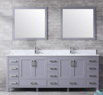 "Armada 84"" Double Sink Bathroom Vanity Grey"