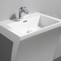 """Steffan 22"""" Bathroom Sink Glossy White"""