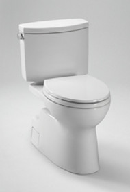 Toto Vespin II Two-Piece High-Efficiency Toilet, with SanaGloss, 1.28GPF