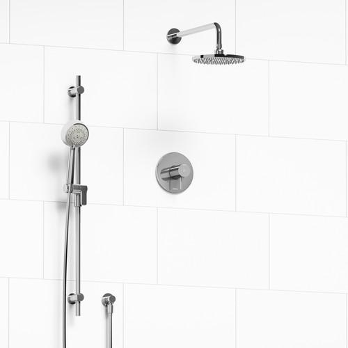 Riobel Pallace 2-way Thermostatic Shower System Chrome Finish