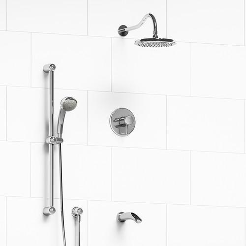 Riobel Retro 3-Way Thermostatic Shower System Chrome Finish