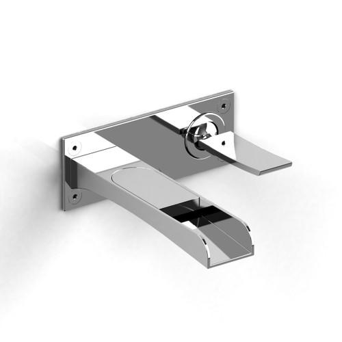 Riobel Zendo Wall-mount lavatory open spout faucet