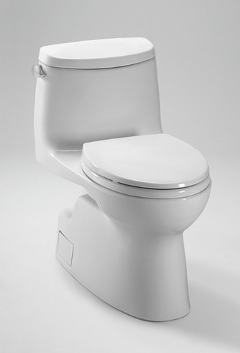 Toto Carlyle II One-Piece High-Efficiency Toilet with SanaGloss 1.28GPF MS614114CEFG