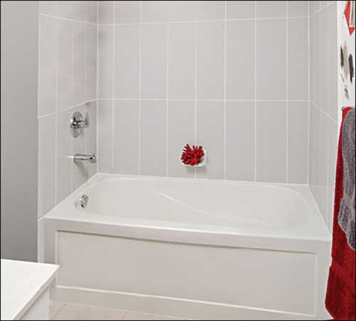 "Mirolin Phoenix 60"" x 30"" Skirted Left Hand Bath Tub"