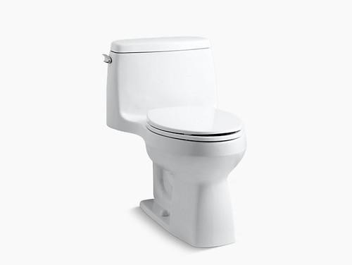 Kohler Santa Rosa Comfort Height One-Piece Compact Elongated 1.28 GPF Toilet - White