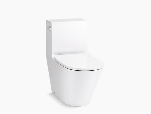 Kohler Brazn One-Piece Compact Elongated Dual-Flush Toilet - White