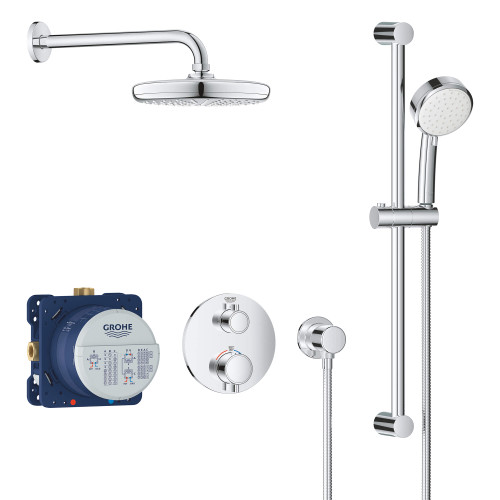 GROHE GROHTHERM ROUND THERMOSTATIC SHOWER KIT, 27 L/MIN (7.1 GPM)