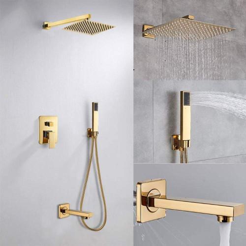 Royal Madison Three Way Pressure Balanced Shower System Brushed Gold