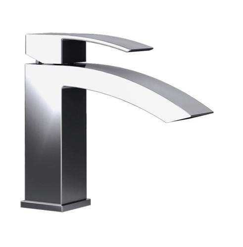 Rubi Fall Single Lever Washbasin Faucet with Drain Chrome