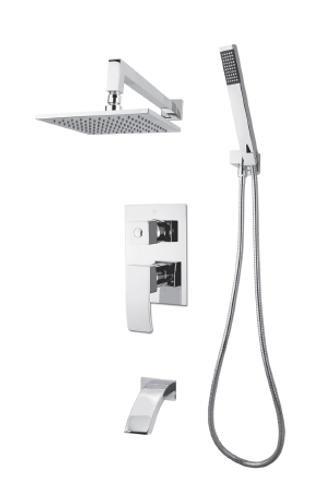 Rubi Fall Shower kit pressure balanced 3 ways diverter Chrome