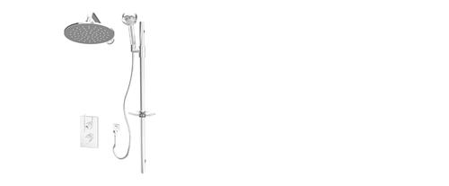 Rubi Evita Hadria Shower System Chrome