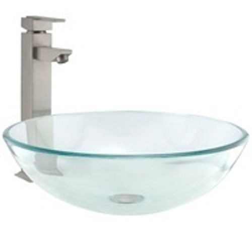 Pexan Over Mount Glass Sink Bowl