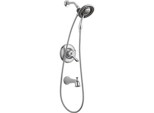 Delta Linden Monitor 17 Series Tub and Shower with In2ition Two-in-One Shower