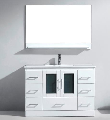 """Oakville 48"""" White Bathroom Vanity"""