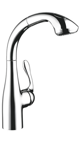 Hansgrohe Allegro E 2-Spray SemiArc Kitchen Faucet, Pull-Out