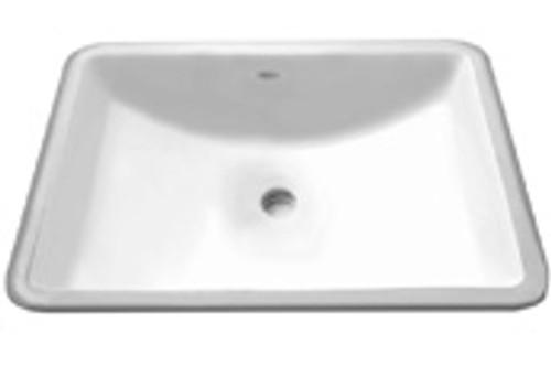 """GEM Porcelain Undermount Sink Square 22.5"""" x 14.5"""""""
