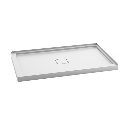 "Kalia KOVER Right 60"" X 36"" X 3"" Rectangular acrylic shower base"