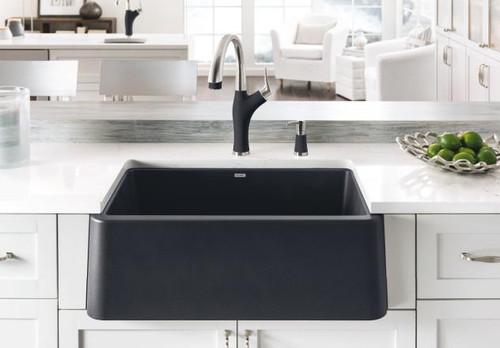 BLANCO IKON 30 Granite composite sink in SILGRANIT PuraDur Black