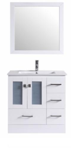 "Hamilton 30"" Bathroom Vanity White"