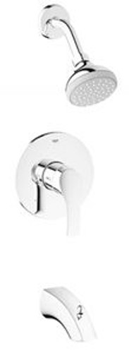 Grohe 35012002 Eurosmart New Pressure Balancing Tub and Shower Valve Trim Only in StarLight Chrome
