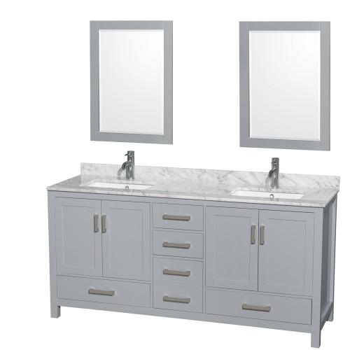 "Armada 72"" Double Sink Bathroom Vanity Light Grey"